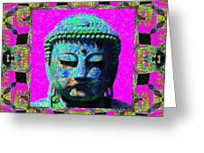 Buddha Abstract Window 20130130p0 Greeting Card by Wingsdomain Art and Photography