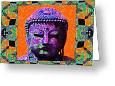 Buddha Abstract Window 20130130p85 Greeting Card by Wingsdomain Art and Photography