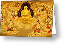 Buddha And Fairies Greeting Card