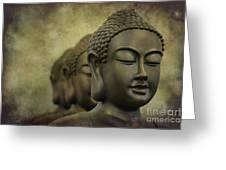 Buddha Bronze Greeting Card