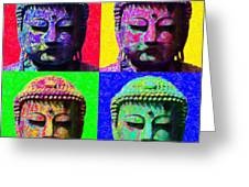 Buddha Four 20130130 Greeting Card by Wingsdomain Art and Photography