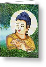 Buddha Green Greeting Card