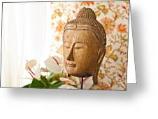 Buddha Head Greeting Card