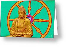 Buddha In The Grove Greeting Card