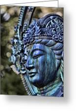Buddha Greeting Card by Karen Walzer