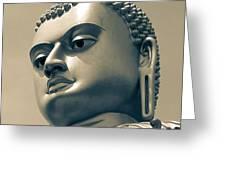 Buddha On Top Of Golden Temple Of Dambulla Greeting Card
