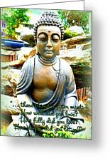 Buddha Quotes Greeting Card