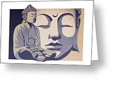 Buddha Greeting Card by Sassan Filsoof