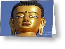 Buddha Statue At The Buddha Park In Kathmandu Nepal Greeting Card