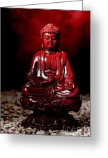 Buddha Statue Figurine Greeting Card by Olivier Le Queinec