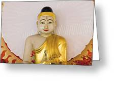 Buddha Statue In Thailand Temple Altar Greeting Card
