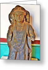 Ancient Buddha Statue - Albert Hall - Jaipur India Greeting Card