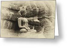 Buddha Sukhothai Thailand 5 Greeting Card