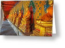 Buddhas At Wat Arun, Bangkok Greeting Card
