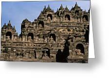 Buddhas Of Borobudur Greeting Card