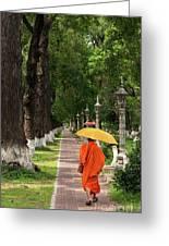 Buddhist Monk 01 Greeting Card