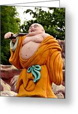 Buddhist Monk On Journey Haw Par Villas Singapore Greeting Card