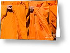 Buddhist Monks 02 Greeting Card by Rick Piper Photography