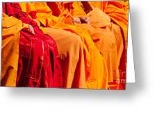 Buddhist Monks 04 Greeting Card by Rick Piper Photography