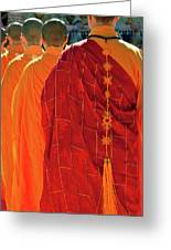 Buddhist Monks Greeting Card