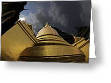 Buddhist Temple In Bangkok Thailand Buddhism  Greeting Card