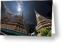 Buddhist Temple In Bangkok Thailand Buddhism Wat Phra Keo Greeting Card