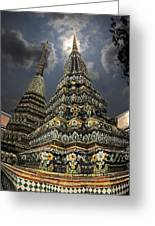 Buddhist Temple In Bangkok Thailand Buddhism Wat Po Greeting Card