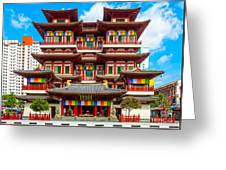 Buddhist Temple In Singapore Greeting Card