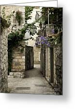 Budva Old Town Street Montenegro Greeting Card