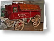 Budweiser Anheuser Busch Wagon Greeting Card