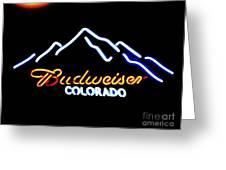 Budweiser In Colorado Greeting Card