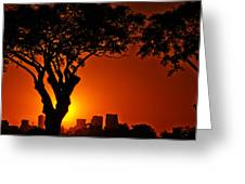 Buenos Aires At Sunset Greeting Card