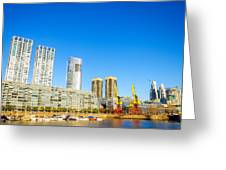 Buenos Aires Waterfront Greeting Card