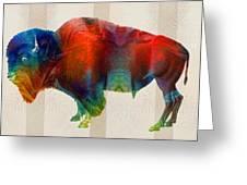Buffalo Animal Print - Wild Bill - By Sharon Cummings Greeting Card