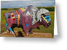 Buffalo Artwork Greeting Card