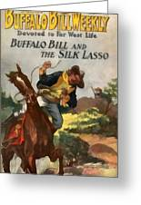 Buffalo Bill And The Silk Lasso Greeting Card by Dime Novel Collection