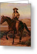 Buffalo Bill On Charlie Greeting Card