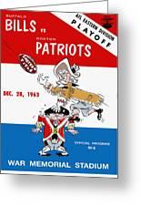 Buffalo Bills 1963 Playoff Program Greeting Card