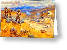 Buffalo Bills Duel With Yellowhand Greeting Card