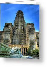 Buffalo City Hall Greeting Card by Tammy Wetzel