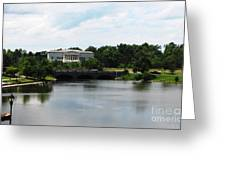Buffalo History Museum And Delaware Park Hoyt Lake Oil Painting Effect Greeting Card