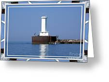 Buffalo New York Outer Breakwater Lighthouse Greeting Card