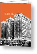 Buffalo New York Skyline 2 - Coral Greeting Card
