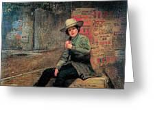 Buffalo Newsboy Greeting Card