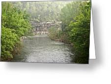 Buffalo River Mist Horizontal Greeting Card by Marty Koch