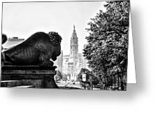 Buffalo Statue On The Parkway Greeting Card