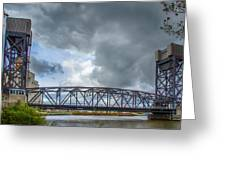 Buffalo's Ohio Street Bridge Greeting Card