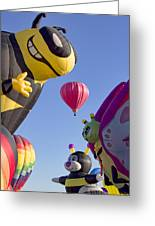 Bug Balloons Waiting To Fly Greeting Card