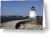 Bug Light South Portland Maine Greeting Card