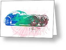 Bugatti Atlantic Watercolor 1 Greeting Card